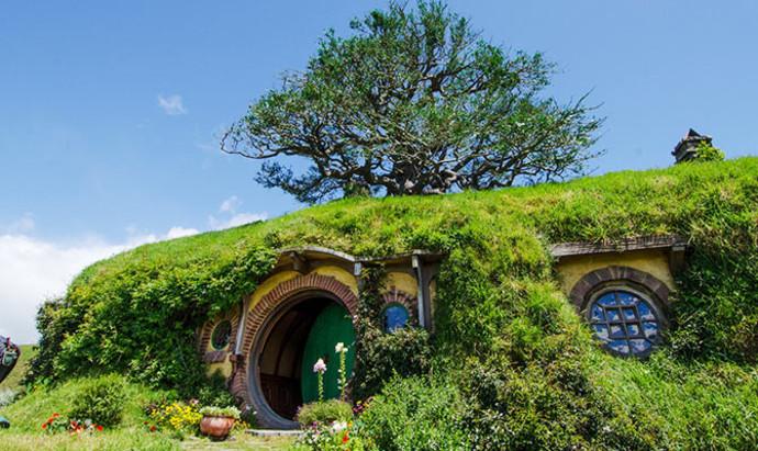 Biblo Baggins' home from the Hobbit  in Hobbiton in New Zealand
