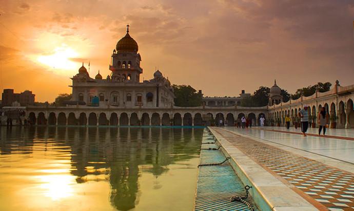 Gurudwara Bangla Sahib Temple in Delhi, India