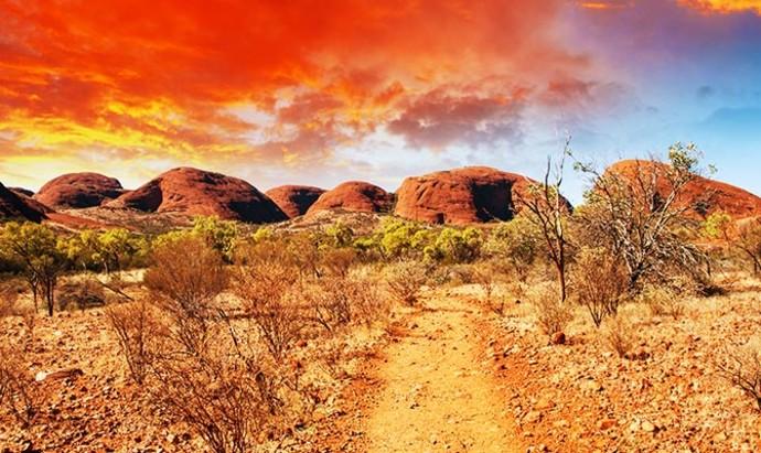 Dirt Road of the outback desert in Australia