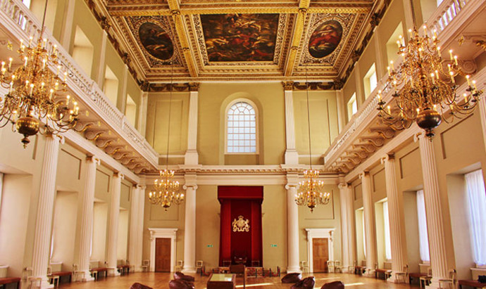 view of the banqueting hall in whitehall horseguards, London