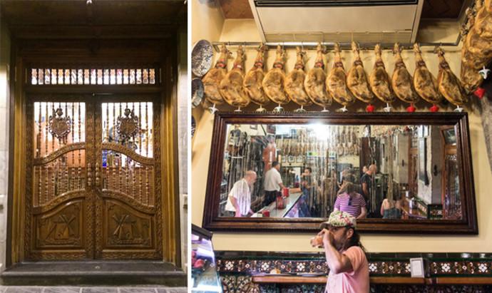 La Mancha door and hanging jamon