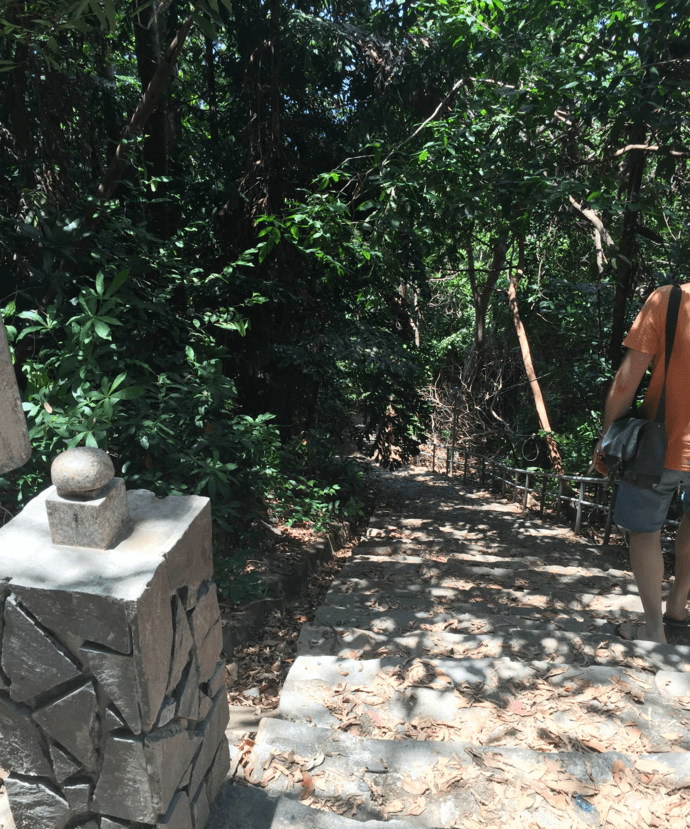 Steps down to Ong Dung Beach, Con Dao