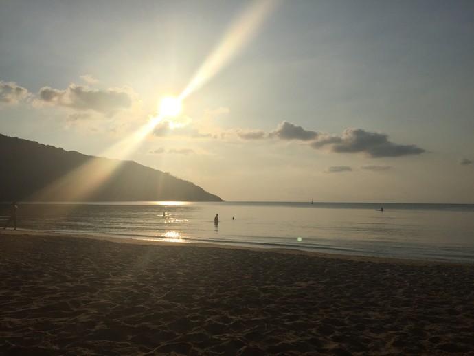 Dam Trau Beach at sunest, Con Dao