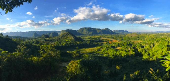 Vista at Pinar del Rio close to Havana