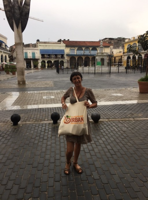 Anna stocks up on some local Cuban produce to bring home from her adventure
