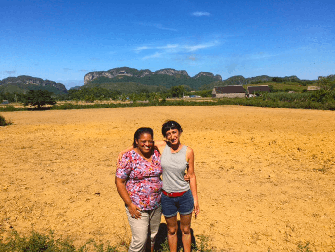Host Marilys takes Anna to Pinar del Rio