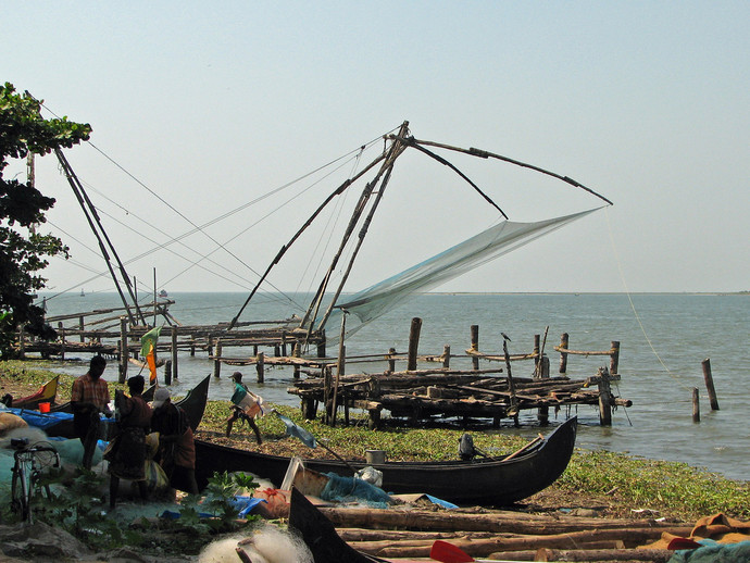 Chinese fishing nets in Cochin