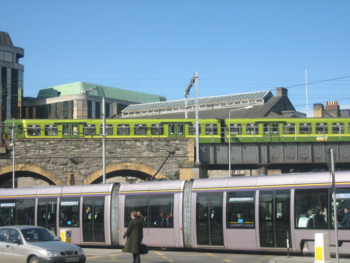 The Dart and Luas in Dublin