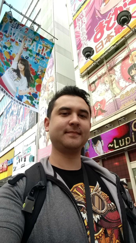 Thomas in Akihabara, Tokyo