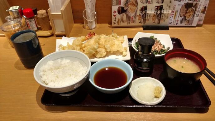 Tempura set for dinner, Tokyo