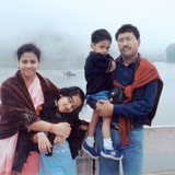 Familia anfitriona en Near Tajmahal, Agra, India