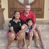 Famiglia a Mae Tang, Chiang Mai, Thailand
