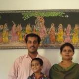 Familia anfitriona en Mala, Cochin, India