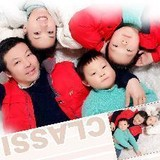 Familia anfitriona en Hongqiao Airport, Shanghai, China