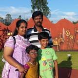 Familia anfitriona en Pasumalai, Madurai, Madurai, India