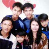 Famiglia a Um Chan, Udon Thani, Thailand