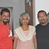 Familia anfitriona en Richmond Road, Bangalore, India