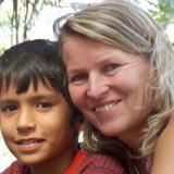 Família anfitriã em Muddiwaddo, Bardez, India