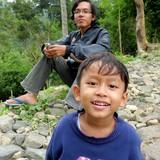 Família anfitriã em Central Java, Borobudur, Indonesia