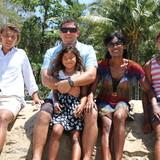 Familia anfitriona en Kewarra Beach, Cairns, Australia