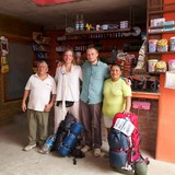Família anfitriã em Gomez balda, Puerto lopez, Ecuador