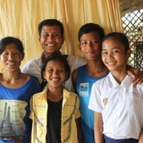 Familia anfitriona en Siem Reap district, Siem Reap, Cambodia