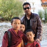 Gastfamilie in Openhand coffee Shop, Leh , India