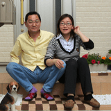 Família anfitriã em Minamidai, Nakanoku, Japan