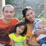 Família anfitriã em Tampaksiring, Gianyar, Indonesia