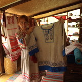Famiglia a Askat, Russia