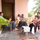 Família anfitriã Achini em negombo, Sri Lanka