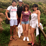 Familia anfitriona en Miravalle, Tanda, Cumbaya, Ecuador