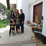 Família anfitriã em el retorno, Ibarra, Ecuador
