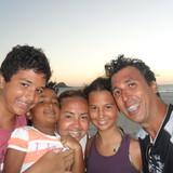 Familia anfitriona en Tribobó, São Gonçalo, Brazil