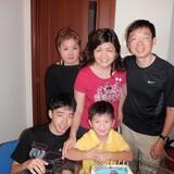 Família anfitriã em Choa Chu Kang, Singapore, Singapore