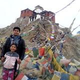 Famiglia a Leh, leh ladakh, India