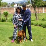 Família anfitriã em HCDA. PINLLOCOTO, SANGOLQUI, Ecuador