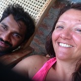 Familia anfitriona en Temple road, Rawana Ella, Sri Lanka