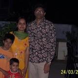 Familia anfitriona en Civil lines, Allahabad, India