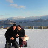 Família anfitriã Saori em Hokkaido, Japan