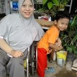 Famiglia a Cemani, Surakarta, Indonesia