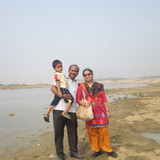 Familia anfitriona en Lake Town, Kolkata, India