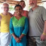 Familia anfitriona en Oppo.to SAI, Aleppey, India