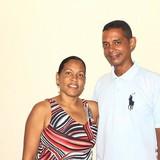 Familia anfitriona en calle Carmen, Trinidad, Cuba