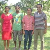 Família anfitriã em Bowalawatte, Kandy, Sri Lanka