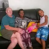 Familia anfitriona en Batoka area, Livingstone, Zambia