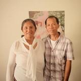 Famiglia a Nongbuadang, chaiyaphum, Thailand