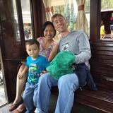 Familia anfitriona en Lang Mu, Phu Hoa, Vietnam