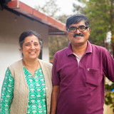 Famiglia a Near Raja Seat, Madikeri , India