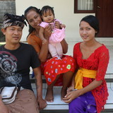 Família anfitriã em Ubud, Gianyar, Indonesia